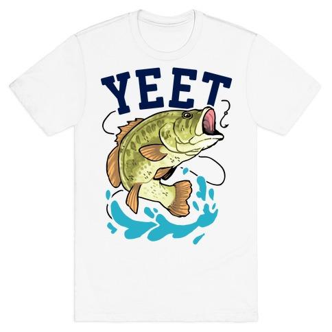 Yeet Bass Fishing Mens/Unisex T-Shirt