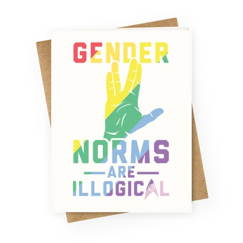 Gender Norms Are Illogical Greeting Card