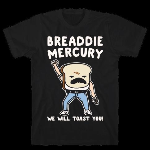 Breaddie Mercury Parody White Print Mens T-Shirt