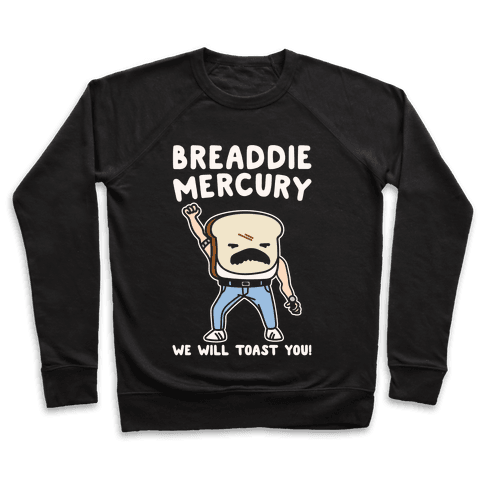 Breaddie Mercury Parody White Print Pullover