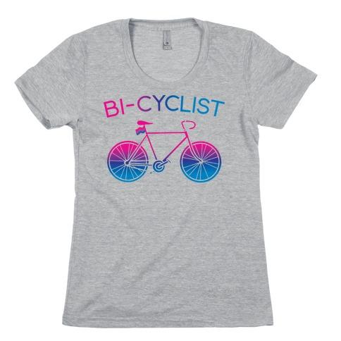Bisexual Bi-Cyclist Womens T-Shirt