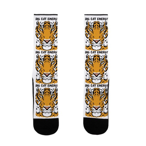 Big Cat Energy Tiger Sock