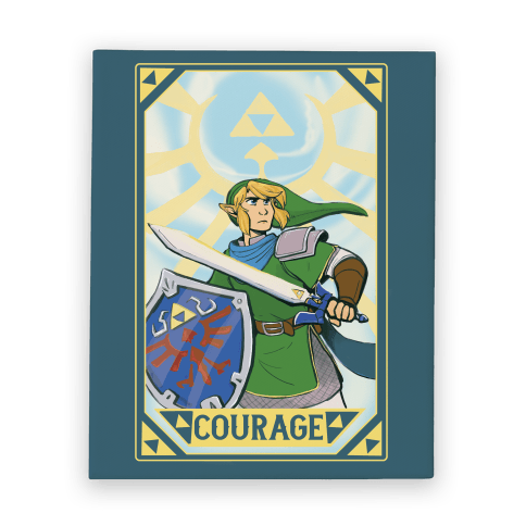 Courage - Link Canvas Print