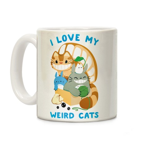 I love my weird cats Coffee Mug