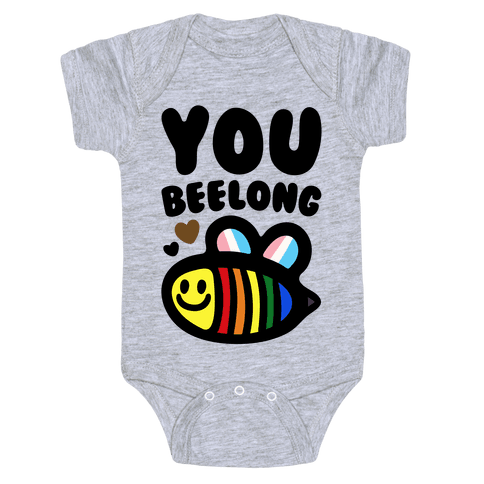 You Beelong Gay Pride Baby One-Piece