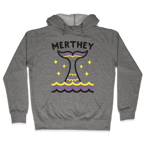 Merthey (Non-Binary Mermaid) Hooded Sweatshirt
