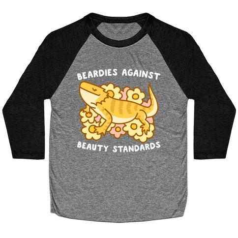 Beardies Against Beauty Standards Baseball Tee
