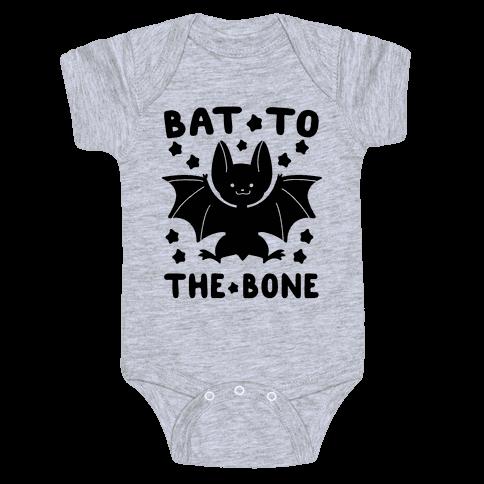 Bat to the Bone Baby Onesy