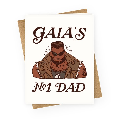 Gaia's Number 1 Dad Greeting Card