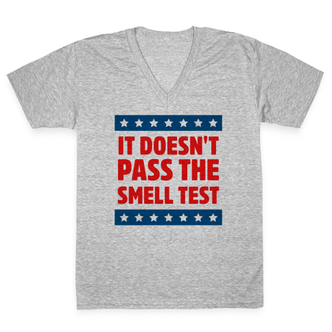 It Doesn't Pass the Smell Test V-Neck Tee Shirt