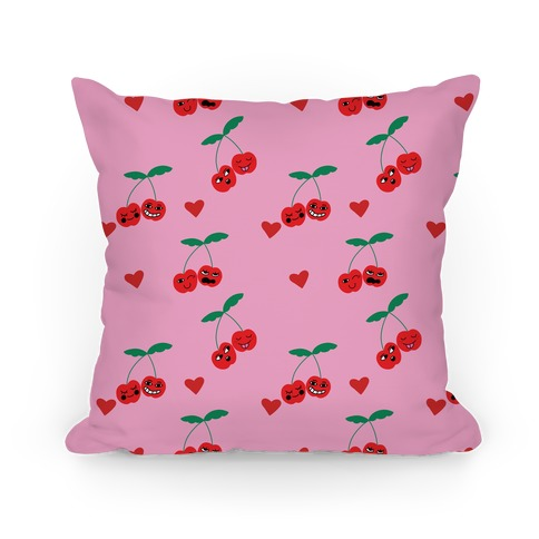 Cherry Love Pattern Pillow