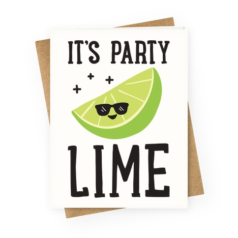 It's Party Lime Greeting Card