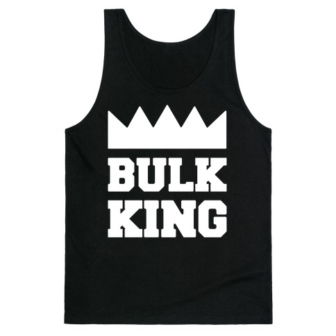 Bulk King White Print Tank Top