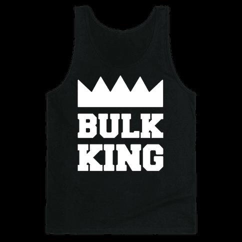 Bulk King White Print Tank Top