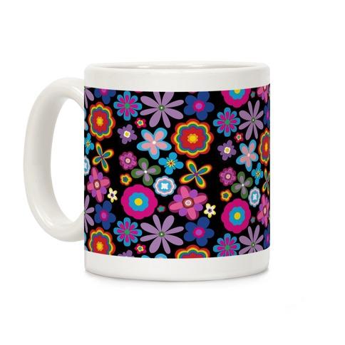 Hippie Pride Flower Pattern Coffee Mug