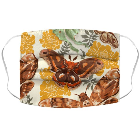 Moths & Marigolds Accordion Face Mask