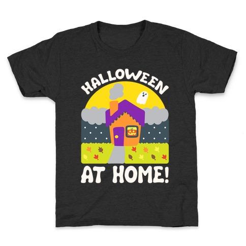 Halloween At Home White Print Kids T-Shirt