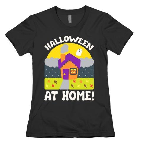 Halloween At Home White Print Womens T-Shirt