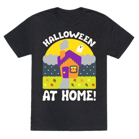 Halloween At Home White Print T-Shirt