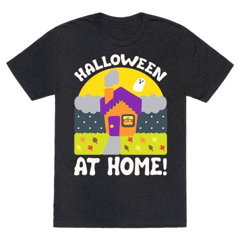 Halloween At Home White Print T-Shirt