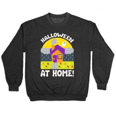 Halloween At Home White Print Pullover