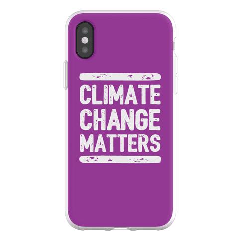 Climate Change Matters Phone Flexi-Case