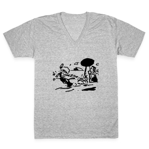 Krazy Kat Jules (Pair Shirt) V-Neck Tee Shirt