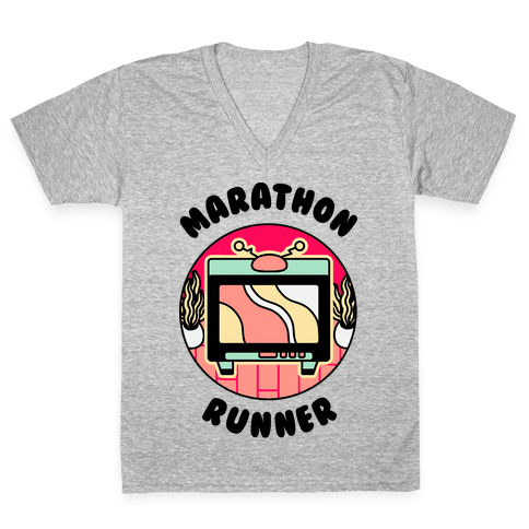 (TV) Marathon Runner  V-Neck Tee Shirt