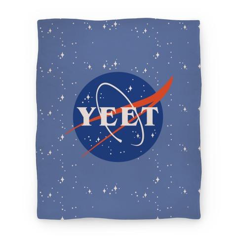 Yeet Nasa Logo Parody Blanket