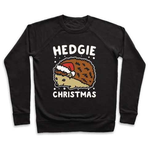 Hedgie Christmas White Print Pullover