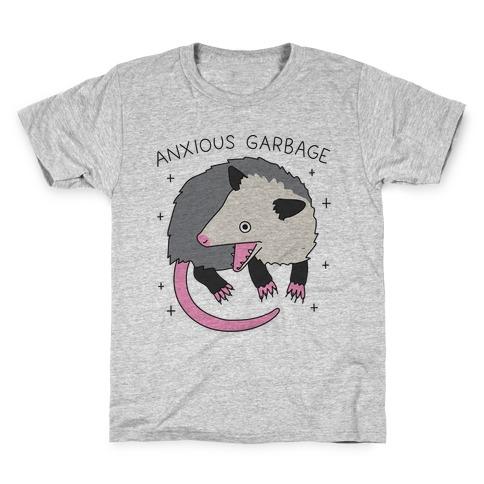 Anxious Garbage Opossum Kids T-Shirt