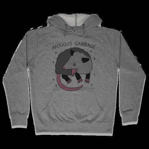 Anxious Garbage Opossum Hooded Sweatshirt