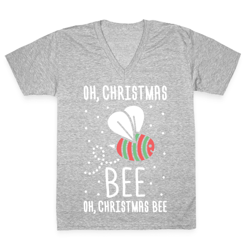 Oh, Christmas Bee V-Neck Tee Shirt