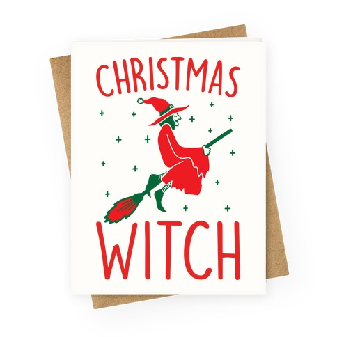 Christmas Witch Greeting Card