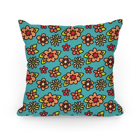 70's Flower Pattern Pillow