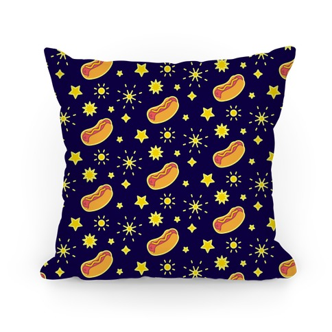 Star Spangled Weenies Pillow