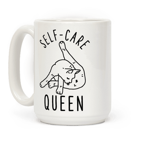 Self-Care Cat Coffee Mug