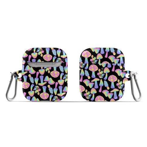 Pastel Rainbow Mushrooms Pattern AirPod Case