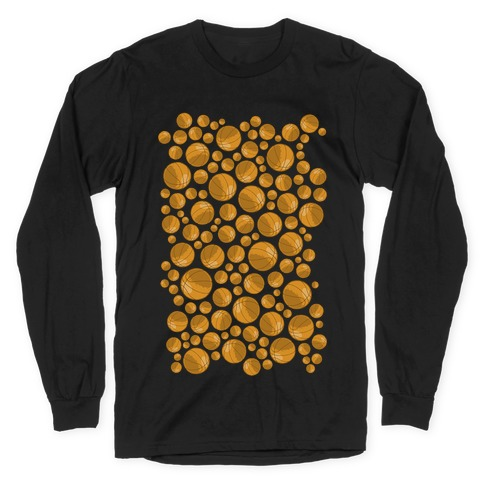 Basketballs Pattern Long Sleeve T-Shirt