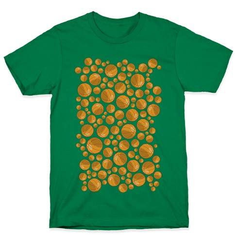Basketballs Pattern T-Shirt