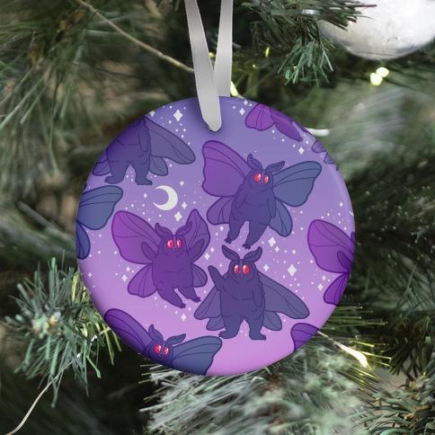 Chubby Mothman Nighttime Pattern Ornament