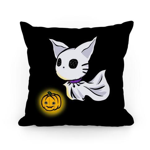 Ghost Cat Pillow