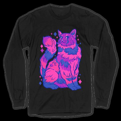 Bisexual Pride Cat Long Sleeve T-Shirt