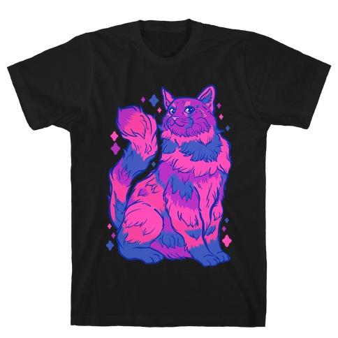 Bisexual Pride Cat Mens/Unisex T-Shirt