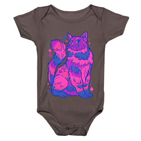 Bisexual Pride Cat Baby One-Piece