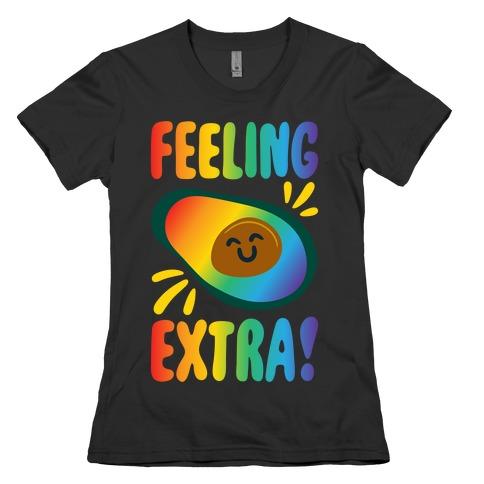Feeling Extra Avocado White Print Womens T-Shirt
