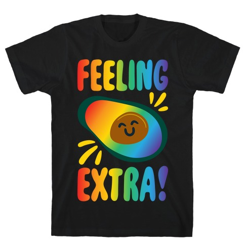 Feeling Extra Avocado White Print T-Shirt