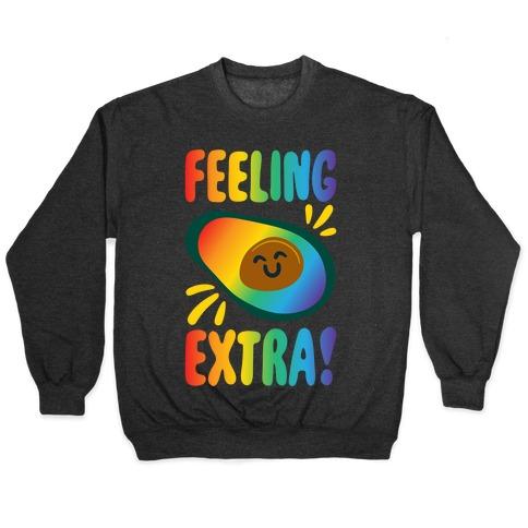 Feeling Extra Avocado White Print Pullover
