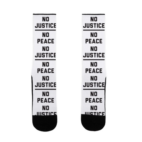 No Justice No Peace Sock