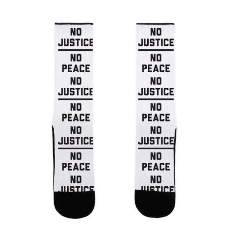 No Justice No Peace Sock